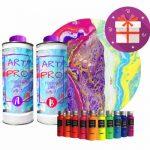 Kit de Resina epoxi transparente Art Resin Resin Pro con pigmentos neón