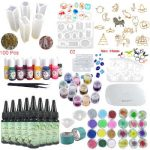 Kit de resina epoxi para manualidades y uñas Frenshion